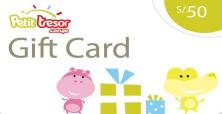 Petit Tresor Gift Card S/.50 nuevos soles.