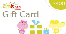 Petit Tresor Gift Card S/.400 nuevos soles.
