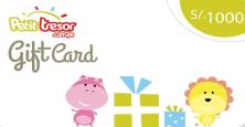Petit Tresor Gift Card S/.1000 nuevos soles.